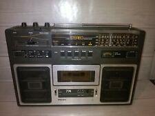 Vintage Retro años 70 Phillips 22-AR-744 Radio Grabadora pre Boombox Probado Funcionando