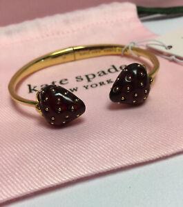 NWT Kate Spade New York Picnic tutti fruity strawberry Cuff bracelet New