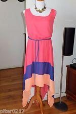 NWT Plus Size Paper Doll Coral Asymmetrical Sleeveless dress, 3X