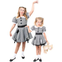 GIRLS BROKEN DOLL COSTUME KIDS HALLOWEEN HORROR CHILDS FANCY DRESS OUTFIT