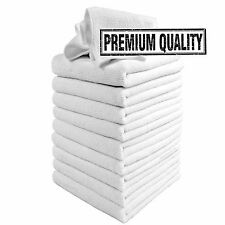 Microfibre Cleaning Cloths, 10 Pack, White, Microfibre Dusters, Machine Washable