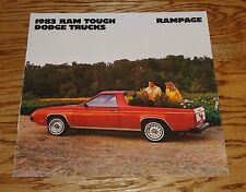 1983 Dodge Rampage 83 Brochure 2.2 Truck