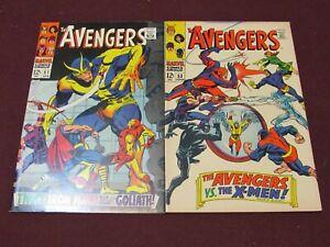 Avengers Silver Age Comic Lot of 2 (#51 & #53 in F/VF) ****X-Men Vs Avengers****