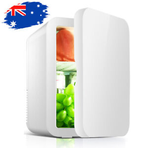 Portable Mint Beauty Fridge 8L with Heat and Cool Capacity Office and Car White