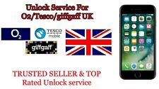 Unlock Service For iPhone 3 4S 5 5S 5C SE 6 6S 7 8 X  XR for O2 TESCO GIGAFF UK