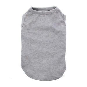 Blank Dog Shirt Pet Clothing Plain Dog Tank for Custom Print, Vinyl, Embroidery