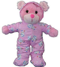 """Pink Snowman Hoodie Footie Pj's Teddy Bear Clothes Outfit Fits Most 14""""-18"""" Buil"""
