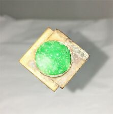 BEAUTIFUL DECO WITH CARVED JADE STONE HATPIN