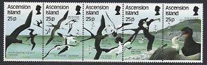 ASCENSION ISLAND 1987 Sea Bird (1st Series) 25p Strip of 5 MNH