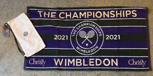 Wimbledon 2021 Official Towel & Cotton Carry Bag - Brand New