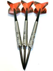 20g TUNGSTEN DARTS Bargain Darts Set, stems + Orange Amazon Oro dart Flights