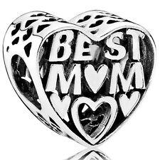 """PANDORA Charm Element 791882 Herz """"Best Mom"""" Silber Bead"""