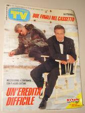 TV SORRISI CANZONI=1990/43=VITTORIO MEZZOGIORNO PLACIDO LA PIOVRA=RICCHI POVERI=