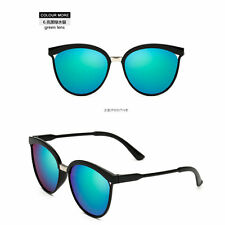 Women's Vintage Mirror Designer Flat Lens Sunglasses Retro Eye Glasses Eyewear