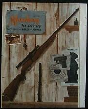 1962 Mossberg Rifle Shotgun Scopes Magazine Catalog