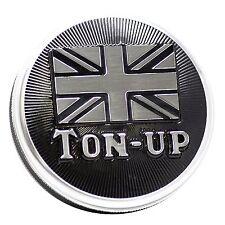 """Triumph Bonneville, Scrambler, Thruxton Billet Gas Cap Accent Machined """"TON UP"""""""