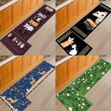 2 pcs Kitchen Non-Slip Floor Mat Washable Rug Door Large Runner Carpet Hallway