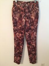 "WOMEN'S JEANS PANTS ""ENCORE JEANS WEAR"" SIZE 11 BROWN Stretch Made in USA"