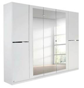 Rauch 'Dorsten' 4 or 5 Door Wardrobe, White. German Made Bedroom Furniture.