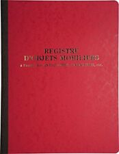 Le Dauphin Registre D'objets mobiliers 80 pages Couleurs assorties