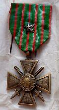 Croix de Guerre de stock 1914 1918 PALME citation argenté ORIGINAL FRENCH MEDAL