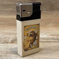 Vintage Camel Plastic Cigarette Push Button Electric Lighter T.C.