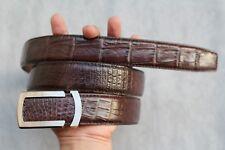 Dark Brown Genuine Alligator, CROCODILE Leather Skin Men's Belt #LT300