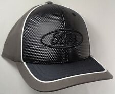 Hat Cap Licensed Ford Oval Grey Black White Piping CF G1838