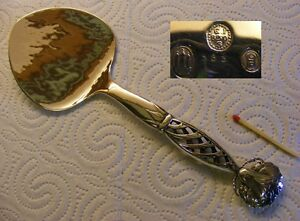 Georg Jensen 830 danish Silver - Ornamental Mod. 83 - Pastry server