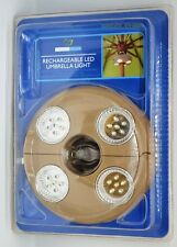 Umbrella Light 4 LED Rechargeable Lights Self-Clamping ~ Sealed