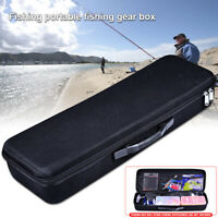 1Pcs Tackle Storage Box Bag Case Double Zipper Fishing Rod Reel Bait Accessories