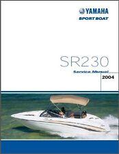 Yamaha SR230 Sport Jet Boat Service Repair Manual CD    --    SR 230 JetBoat