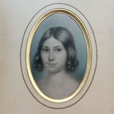 More details for 19thc pastel portrait frederica mareceaux, irish & french int'
