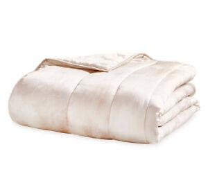 Michael Aram Textured FULL/QUEEN Quilt Silk/Cotton BLUSH