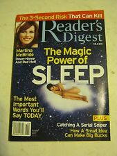 October 2007 Reader's Digest Magazine - The Magic Power Of Sleep (MS-b34)
