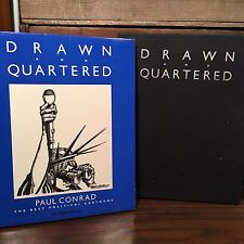 Drawn and Quartered by Paul Conrad Signed Hardcover with Dust Jacket in Slipcase