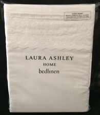 Laura Ashley White DOUBLE Bed Aimee Duvet Cover + 2 Pillowcases / Bedset - NEW
