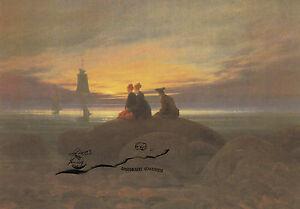 Postkarte - Caspar David Friedrich:  Mondaufgang am Meer