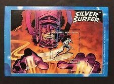 Madagascar Silver Surfer Souvenir Sheet 1998 Marvel Comics Superhero Comic Book