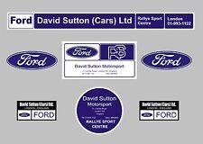 ESCORT RS1800 Rs2000 Messico David Sutton Motorsport Decalcomanie Adesivi