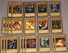 YU-GI-OH CARDS! lot of 21 Normal monsters Worm drake Darkfire Soldier Volcanic