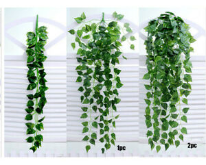 Artificial Fake Hanging Ivy Vine Leaf Garland Plants Like Real Home Wall Decor