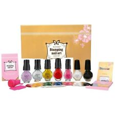 Konad Stamping Nail Art Kit Gold Set NEW with 6 polishes & 20 plates
