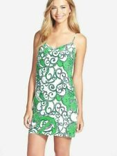 Lilly Pulitzer Silk Dusk Dress Go Go Green Shape Up or Ship Out XS Green Multi