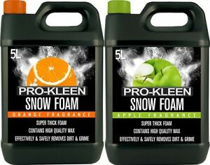 ProKleen Snow Foam Car Shampoo Wax Vehicle Wash Cleaning Shine Washer Mixed 10L