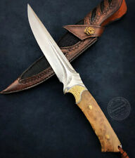 COLLECTIBLE VG10 DAMASCUS HUNTING KNIFE CAMPING SURVIVAL FIXED BLADE FULL TANG