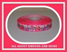 "7/8"" PAW PATROL ON PINK GROSGRAIN RIBBON- 1 YARD"