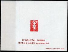 MARIANNE du Bicentenaire BRIAT 1993 TVP Rouge Feuillet Non Dentelé Gommé