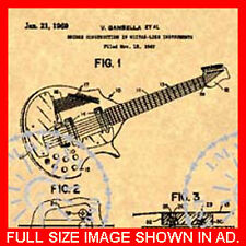 Coral Electric Sitar Patent Danelectro Guitar 2of2 #761