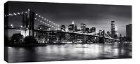 "LARGE NEW YORK CANVAS PICTURE BROOKLYN BRIDGE 44""x20"""